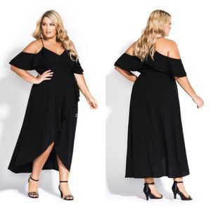 NEW City Chic Miss Jessica Ruffle Maxi Dress